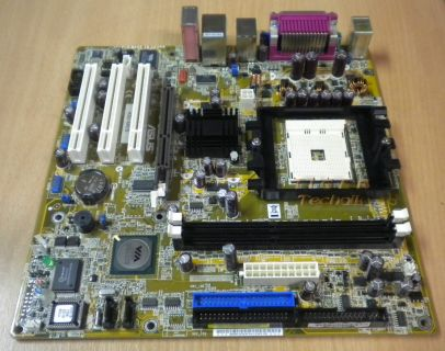 Asus K8V-MX/S Rev 1.06 Mainboard + Blende * Sockel 754 FireWire DDR400 LAN m06