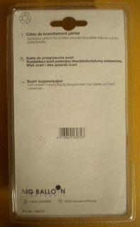 BigBalloon 2-fach SCART Verteiler 2x Buchse - 1x Stecker 0,5m Kabel *so407