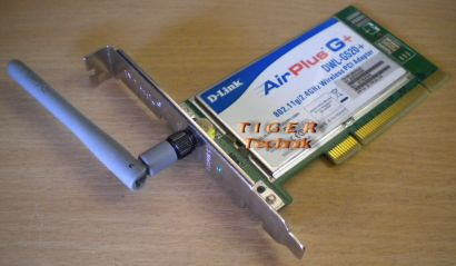 D-Link Air Plus G DWL G520 plus WLAN PCI Karte* nw34