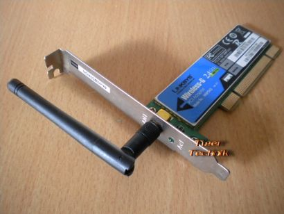 Linksys WPM54G Wireless-G 2.4 GHz PCI Karte mit Antenne* nw37
