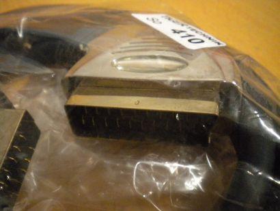 Hochwertiges SCART Kabel blau 1,5m Stecker - Stecker DVB-T Video TV DVD* so410