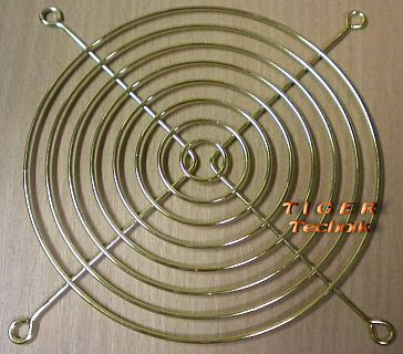 Fan Grill 140x140mm 14cm Lüfter Grill Gitter Goldfarbe TOP* pz91