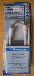 Skymaster plus TV/Radio Antennenkabel >80db Koax-St. - Koax-Kuppl. 1,5m *so417