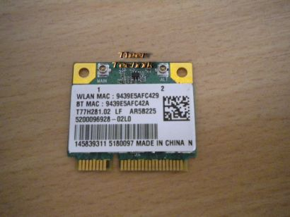 Atheros AR5B22 Mini PCi-E Driver+Bluetooth* nw66