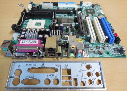 Medion MD5000 MSI MS-6701 Ver1.0 Mainboard +Blende Sockel 478 AGP LAN Audio* m30