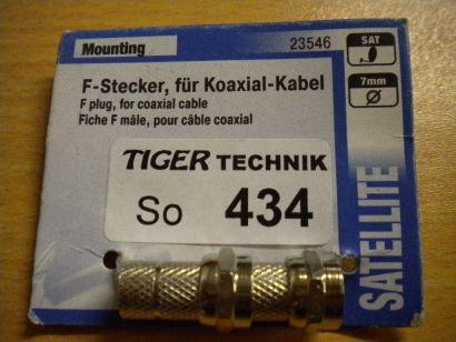 2x Skymaster F-Stecker für Koaxialkabel > 7mm Durchmesser * so434