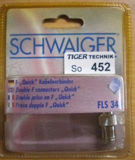 Schwaiger FLS 344 Adapter F-Kabelverbinder F-Quick-Kabelverbinder * so452