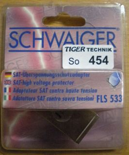 Schwaiger FLS 533 SAT Überspannungsschutzadapter* so454