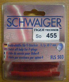 Schwaiger FLS 503 Aufdrehhilfe für F-Stecker Ø 7mm rot * so455