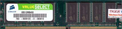 Corsair VS512MB400 PC-3200 512MB DDR1 400MHz Arbeitsspeicher* r20