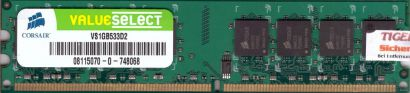 Corsair Value Select VS1GB533D2 PC2-4200 1GB DDR2 533MHz Arbeitsspeicher RAM*r37