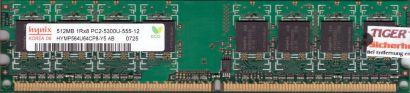 Hynix HYMP564U64CP8-Y5 AB PC2-5300 512MB DDR2 667MHz Arbeitsspeicher RAM* r40