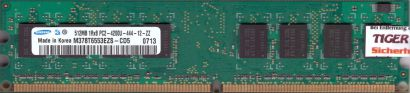 Samsung 512MB 1Rx8 PC2-4200U-444-12-ZZ M378T6553EZS-CD5 0704 Arbeitsspeicher*r44