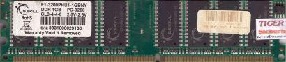 G.SKILL F1-3200PHU1-1GBNY PC-3200 1GB DDR1 400MHz Arbeitsspeicher RAM* r42