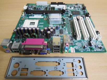 HP 335186-001 Rev A01 Mainboard +Blende D220 MT NR138 Sockel 478 LAN VGA* m441