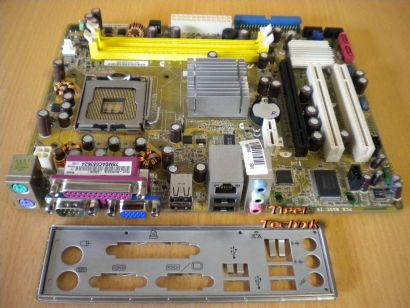 ASUS P5GC-MX/S i945GC Rev 3.04G Mainboard + Blende Sockel 775 VGA LAN Audio*m446