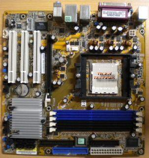 Asus A8NE-FM/S Rev 2.00 Mainboard + Blende Sockel 939 DDR400 PCI-E x16 LAN* m453