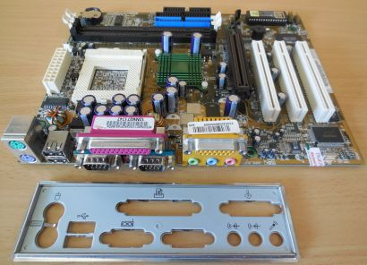 ASUS CUV4X-CM Medion 2001 Rev 1.01 Mainboard +Blende Sockel 370 AGP Audio* m200
