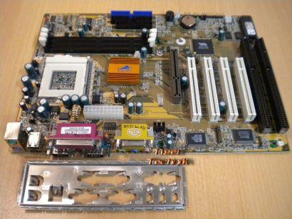 ECS Elitegroup P6BAP-A+ Rev 2.2 Mainboard +Blende Sockel 370 2x ISA AGP PCI*m472