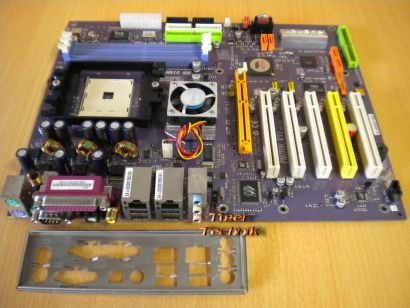 ECS Elitegroup Photon KV1 Rev1.0 HighEnd Sockel 754 Mainboard SATA IDE-RAID*m475