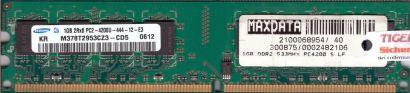 Samsung M378T2953CZ3-CD5 PC2-4200U CL4 1GB DDR2 533MHz Arbeitsspeicher RAM* r45