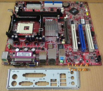 MSI MS-7060 Medion Ver:1 Mainboard + Blende FSB800 DDR400 AGP 8x 5.1 Audio *m482
