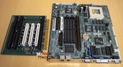 Intel Packard Bell PB 642595-001 Mainboard + 52F53 RiserCard Sockel 7 3xISA*m515
