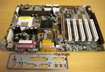 Biostar M7VKB Ver 1.1 Mainboard + Blende Sockel A 462 1x ISA 5xPCI Audio* m543
