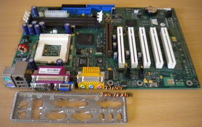 FSC D1218-A32 GS 3 Mainboard + Blende Sockel 370 VGA LAN AGP 5xPCI Audio* m547