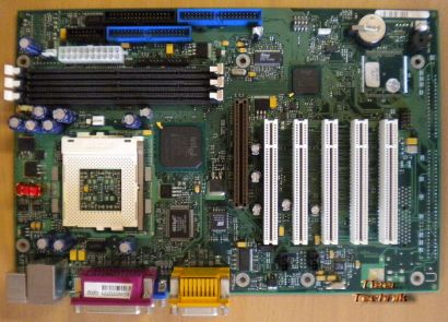 FSC D1218-A32 GS 3 Mainboard + Blende Sockel 370 VGA LAN AGP 5xPCI Audio* m547
