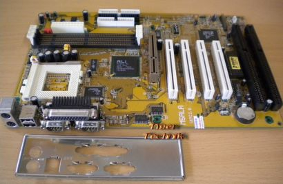 Biostar M5ALA Ver 2.0 Mainboard + Blende Sockel 7 AGP 2x ISA 4x PCI SD-RAM* m557
