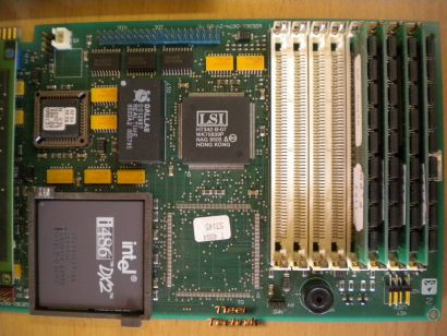 Siemens D674-VF74 GS2 CPU Karte +Intel 486 DX2-66MHz +16MB +E100-V3 GS6 ISA*m558