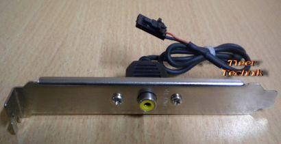 SPDIF Composite Cinch Out Ausgang Mainboard Slot Blech* pz129