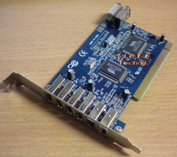 8-Port PCI Adapter Card 5x USB 2.0 & 3x FireWire IEEE 1394a* sk20