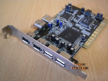 6-Port PCI Adapter Card SD-COMBO-02 3x USB 2.0 3x FireWire IEEE 1394a* sk18