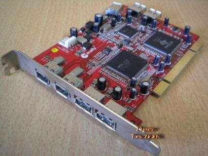 7-Port PCI Adapter Card 4x USB 2.0 & 3x FireWire IEEE 1394a* sk19
