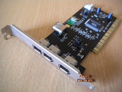 4-Port PCI Adapter Card 4x FireWire IEEE 1394a Versch. Hersteller Marken* sk21