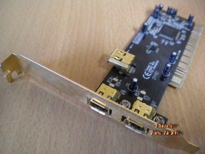 3-Port Adapter Card 3x FireWire IEEE 1394a  Versch. Hersteller Goldfarbig* sk31