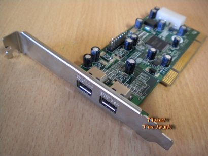 2-Port PCI Adapter Card 2x FireWire IEEE 1394a Versch. Hersteller Marken* sk32