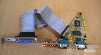 E2207809 Ver3.1 PCI 2 Ports RS-232 Serial Karte + LPT2 25 Pin* sk34
