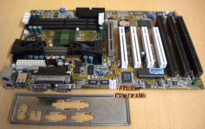 Asus P2B Rev 1.10 Mainboard + Blende 3x ISA Slot 1 Intel 440BX AGP PCI USB* m573