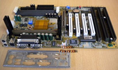 Gigabyte GA-6BXC Rev 1.7 Mainboard +Blende 3x ISA Slot 1 440BX AGP PCI USB* m577