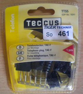Teccus by Vivanco Telefonstecker zur Montage TAE-F Telefon Stecker* so461