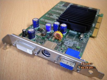 nVIDIA GeForce FX 5200 Rev A02 128 MB 64 Bit DDR AGP 8x VGA DVI S-Video* g305