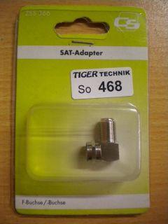 Schwaiger CS DIY F-Winkeladapter F-Stecker F-Buchse Metall hohe Qualität* so468