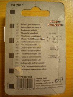10x Schwaiger HDTV F-Stecker für Koaxialkabel 6,5 - 7mm Durchmesser* so474