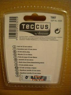 Teccus by Vivanco Audio Klinkenstecker 3,5mm stereo Klinke Stecker* so482