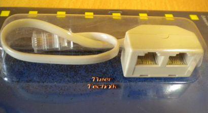Schwaiger 2-fach ISDN-S0 Port-Erweiterung 2-fach Verteiler ISDN RJ45* so511