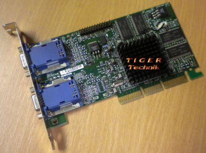 Matrox G450 G45+MDHA32DB Grafikkarte AGP 16MB Dual Head VGA* g307
