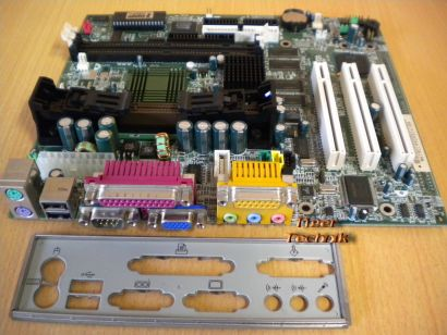MSI MS-6190 Ver1 Medion 9901 Mainboard +Blende Slot 1 Intel 440ZX VGA Audio*m593
